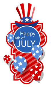 Happy 4th Of July Greeting Banner