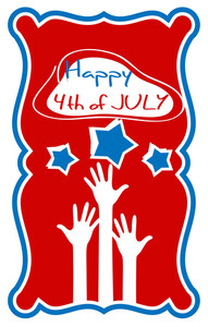 Happy 4th Of July Greeting Vector