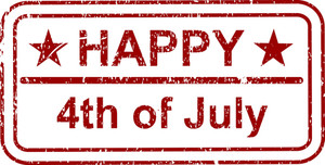 Happy 4th Of July Stamp