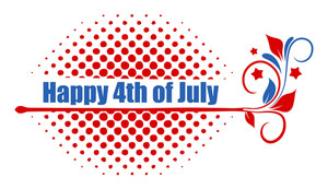 Happy 4th Of July Text Design