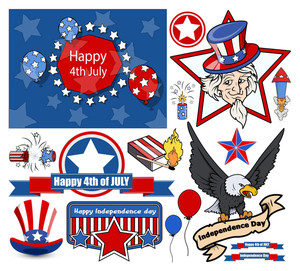 Happy 4th Of July Vector Designs Set