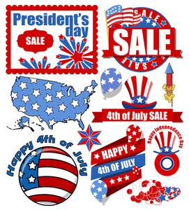 Happy 4th Of July Vector Items