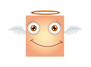 Happy Angel Smiley