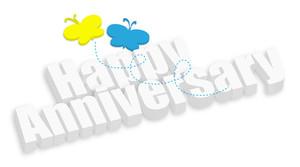 Happy Anniversary 3d Banner