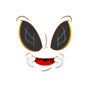 Happy Bee Cartoon Face