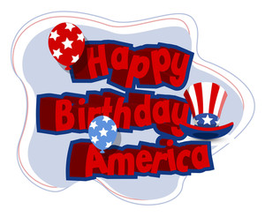 Happy Birthday America Vector