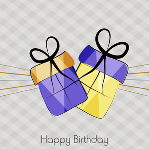 Happy Birthday Background With Colorful Gift Boxes