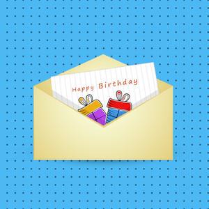 Happy Birthday Celebration Concept With Envelope