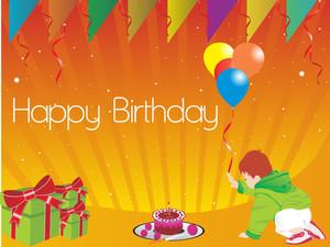 Happy Birthday Kid Illustration