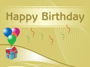 Happy Birthday Vector Wallpaper
