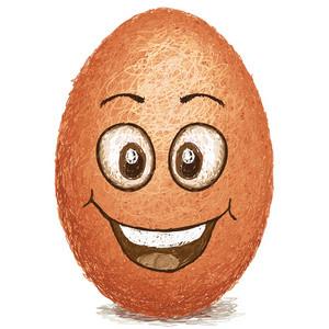 Happy Brown Egg