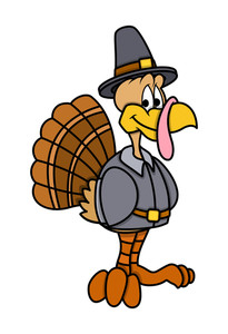 Happy Cartoon Turkey