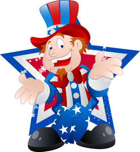 Happy Cartoon Uncle Sam