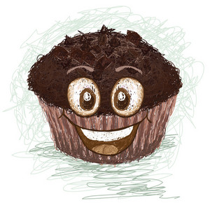 Happy Chocolate Muffin