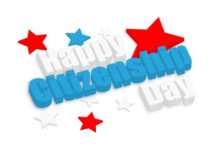 Happy Citizenship Day 3d Banner