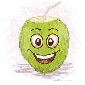 Happy Coconut Fruit Juice