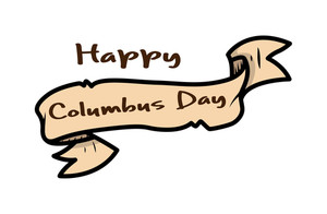 Happy Columbus Day Paper Banner