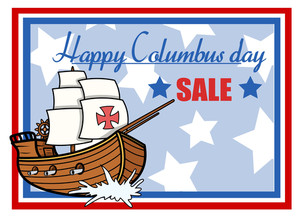 Happy Columbus Day Sale Graphic Banner