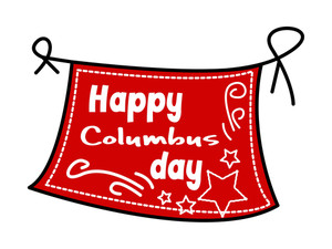 Happy Columbus Day Vector Banner