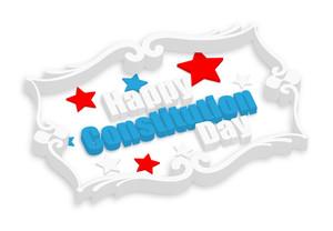 Happy Constitution Day 3d Banner