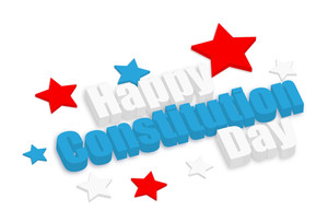 Happy Constitution Day Vector