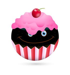 Happy Cupcake Smiley