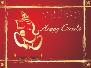 Happy Diwali Illustration
