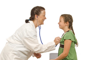 Happy Doctor and Young Patient