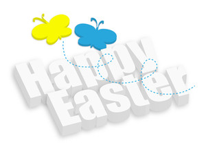 Happy Easter 3d Greeting