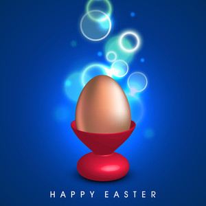 Happy Easter Background Or Card With Creative And Decorated Eggs.