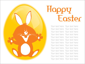 Happy Easter Day Card Illustration