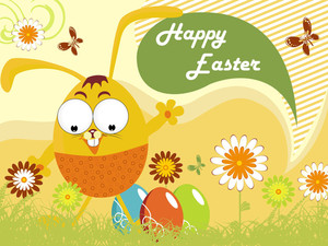 Happy Easter Day Scenery Illustration