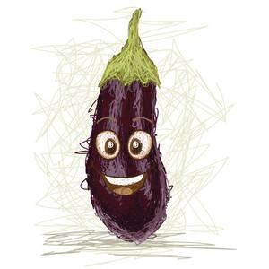Happy Eggplant