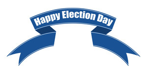 Happy Elections Day Ribbon