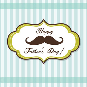 Happy Father's Day Background With Fancy Mustache