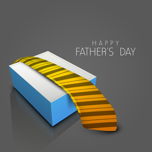 Happy Fathers Day Background With Necktie