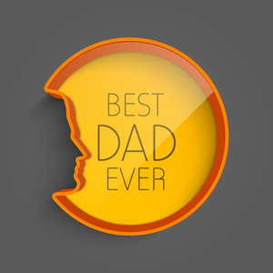 Happy Fathers Day Background With Text Best Dad Ever