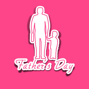 Happy Fathers Day Concept With A Father Holding Hand Of His Son