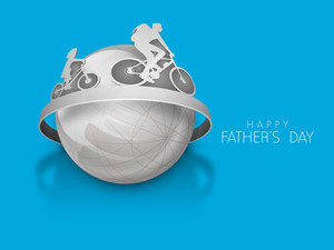 Happy Fathers Day Concept With Father And Son