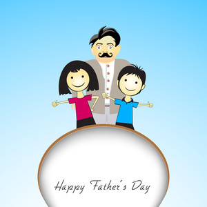 Happy Fathers Day Concept With Illustration