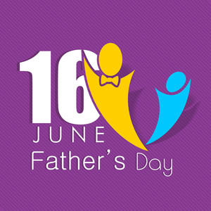 Happy Fathers Day Concept With Symbol Of A Father And Child
