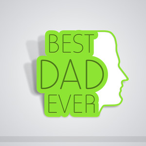 Happy Fathers Day Concept With Text Best Dad Ever
