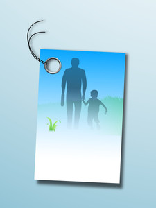 Happy Fathers Day Greeting Card Or Background