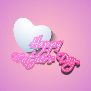 Happy Fathers Day Text With Heart