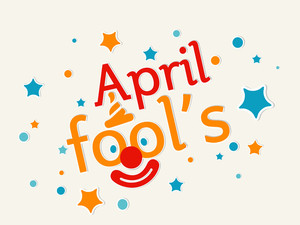 Happy Fool's Day Funky Concept With Stylish Text And Joker Face On Colorful Stars Decorated Background.