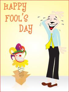 Happy Fools Day Gretting Card