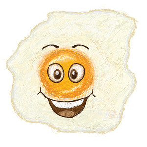 Happy Fried Egg