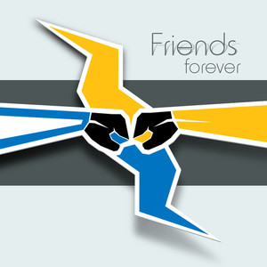 Happy Friendship Day Abstract Background