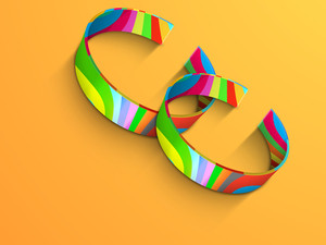 Happy Friendship Day Background With Colorful Bands On Yellow Background.