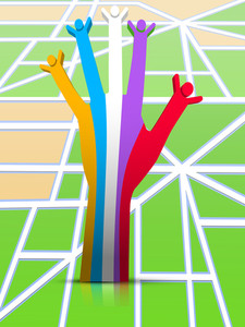 Happy Friendship Day Background With Colorful Hand Enjoying Friends Dedicated To Fingers.
